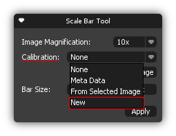 Scale Bar Tool box